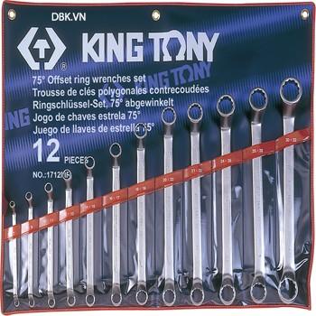 Bộ cờ lê hai đầu vòng 12 chi tiết 30x32mm Kingtony 1712MR3032