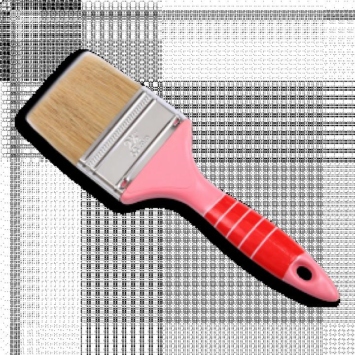 """Cọ cán nhựa màu hồng Thanh Bình 1NH30 3"""" (7.5 cm) 12 Cây"""
