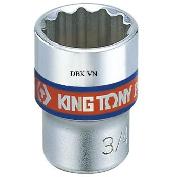 Đầu tuýp ngắn 3/8 inch size 1/2 inch 12.7mm Kingtony 333016S