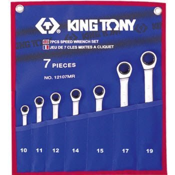 10-19mm bộ cờ lê vòng miệng 7 cái hệ mét Kingtony 12107MRN