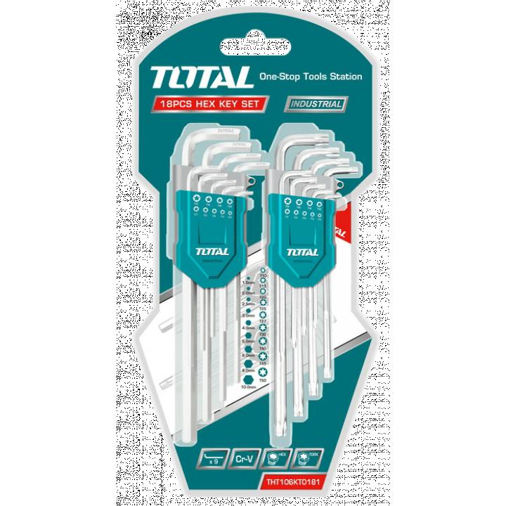 Bộ chìa lục giác và lục giác bông Total THT106KT0181