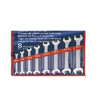 Bộ cờ lê hai đầu miệng 8 cái hệ mét Kingtony 1108MR (6-22mm)