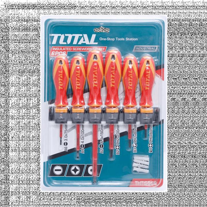 Bộ 6 tua vít cách nhiệt Total THTIS566 24/T