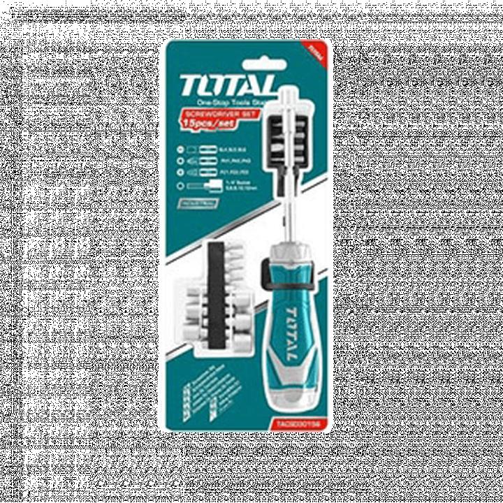 Bộ tua vít 15 đầu Total TACSD30156
