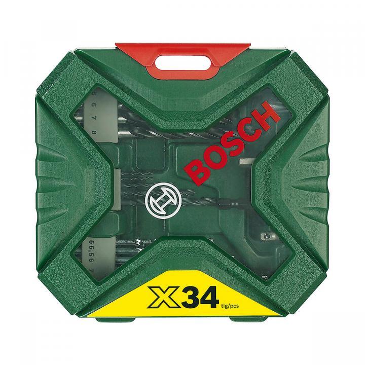Bộ mũi khoan và vặn vít X-Line 34 chi tiết Bosch 2607010608