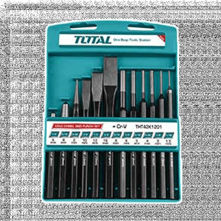 Bộ đục dẹp và tròn Total THT42K1201