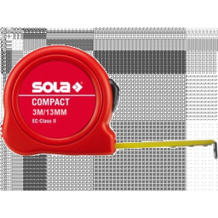 Thước thép cuộn ngắn Sola Compact CO 3 ME - SB 3m