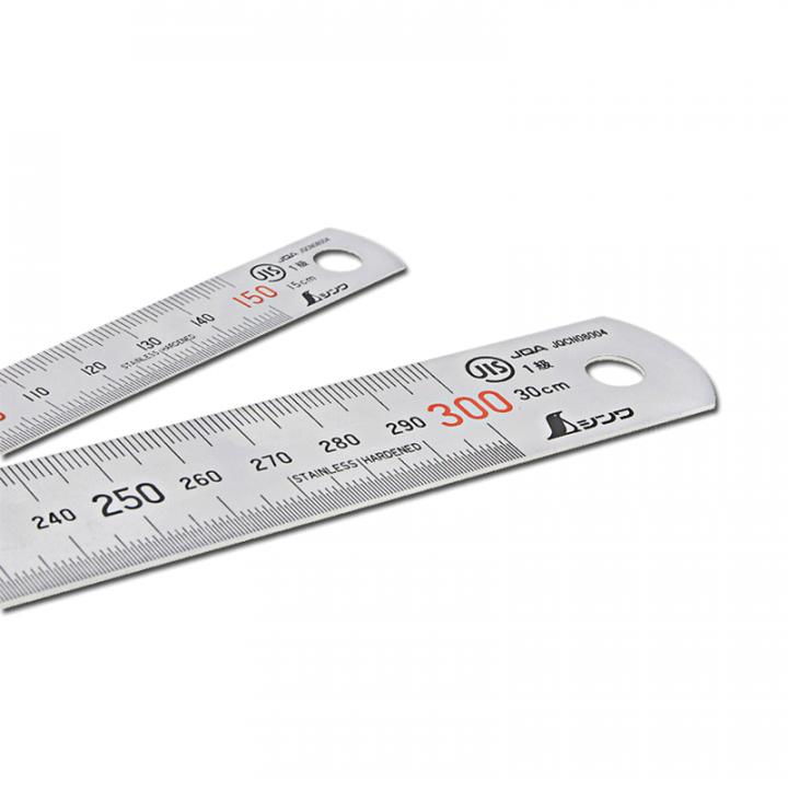 Thước lá inox mạ nhũ bạc Shinwa 13005 H101A 15cm