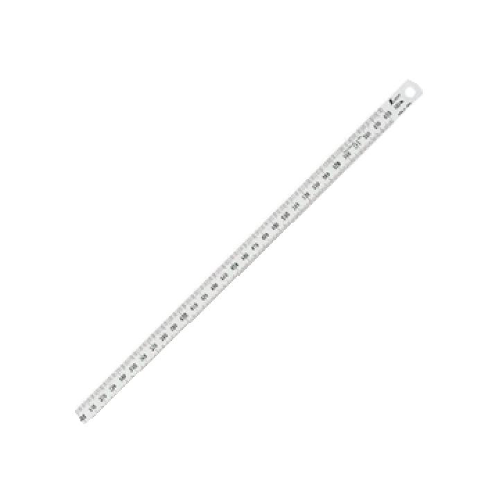 Thước lá inox mạ nhũ bạc Shinwa 13064 2m