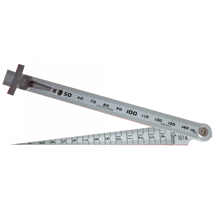 Thước lá kết hợp đo khe lỗ Shinwa 62612