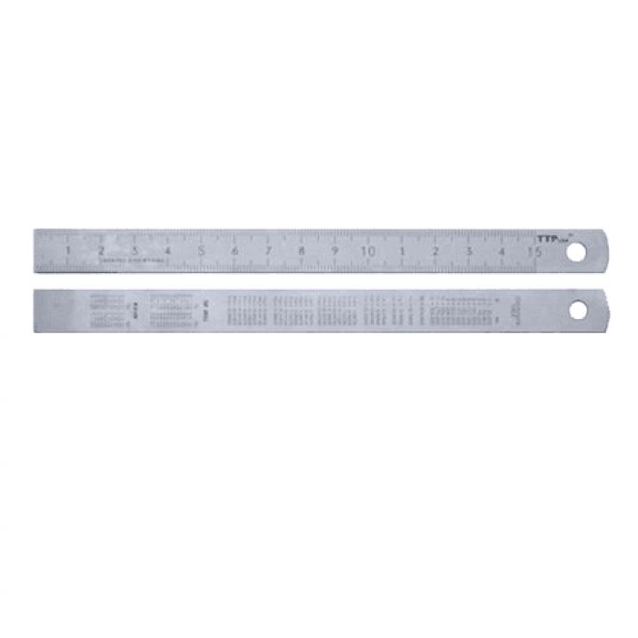 Thước lá inox nhũ bạc 2000x40x2.0mm TTPusa 230-45880