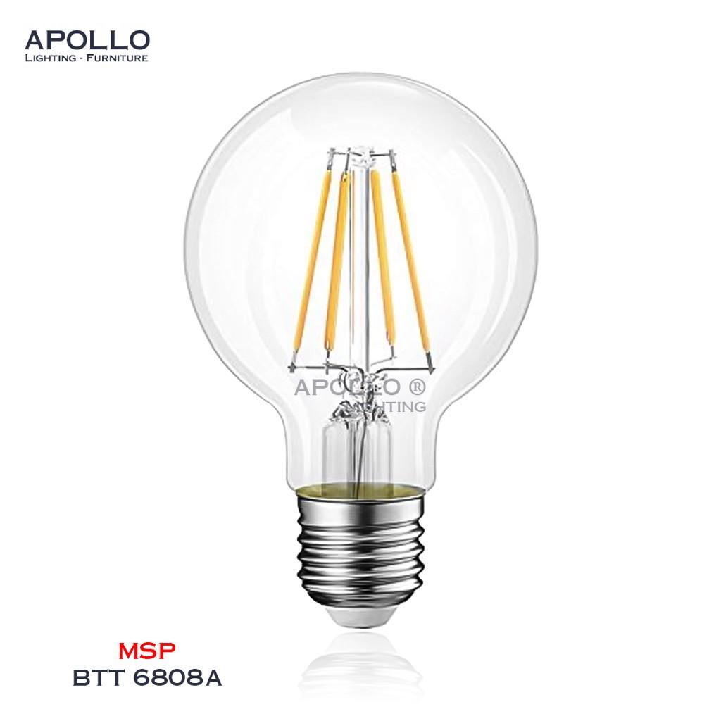 Bóng LED G80 trang trí giả sợi tóc BTT 6808A