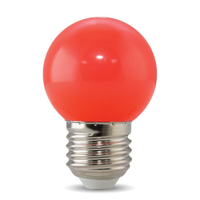 Bóng đèn LED BULB tròn màu 1W màu đỏ