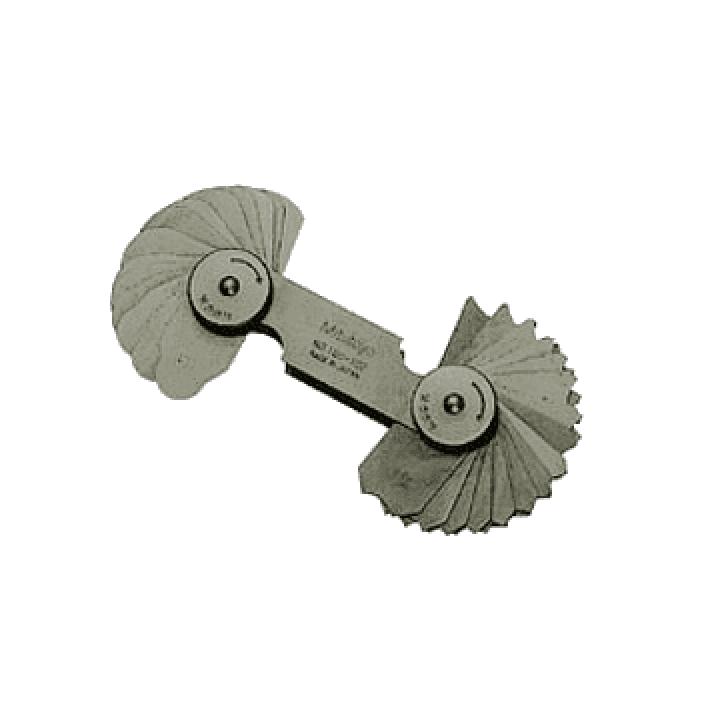 Bộ dưỡng đo bán kính 0.5-13 mm (26 lá) Mitutoyo 186-902