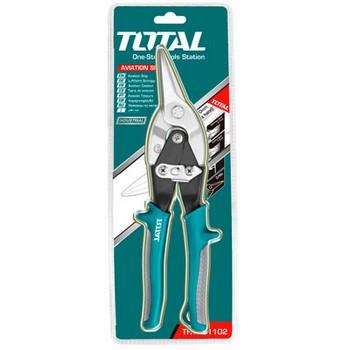 """Kéo cắt tôn mũi cong phải Total THT523106 10"""""""