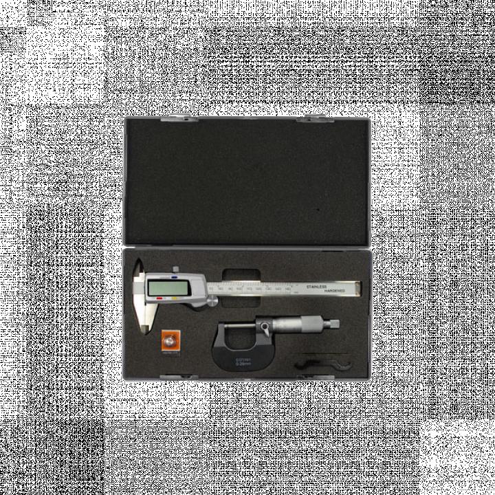 Bộ thước cặp có đồng hồ và Panme đo ngoài Kendo 35305