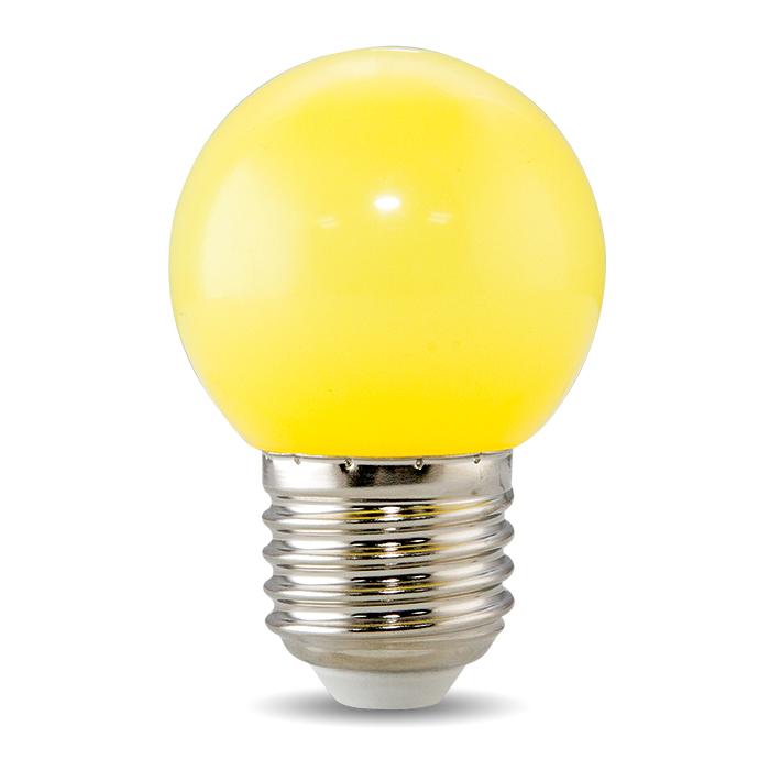 Bóng đèn LED BULB tròn màu 1W màu vàng