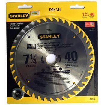 Lưỡi cưa gỗ 184mm x 40T Stanley 20-522