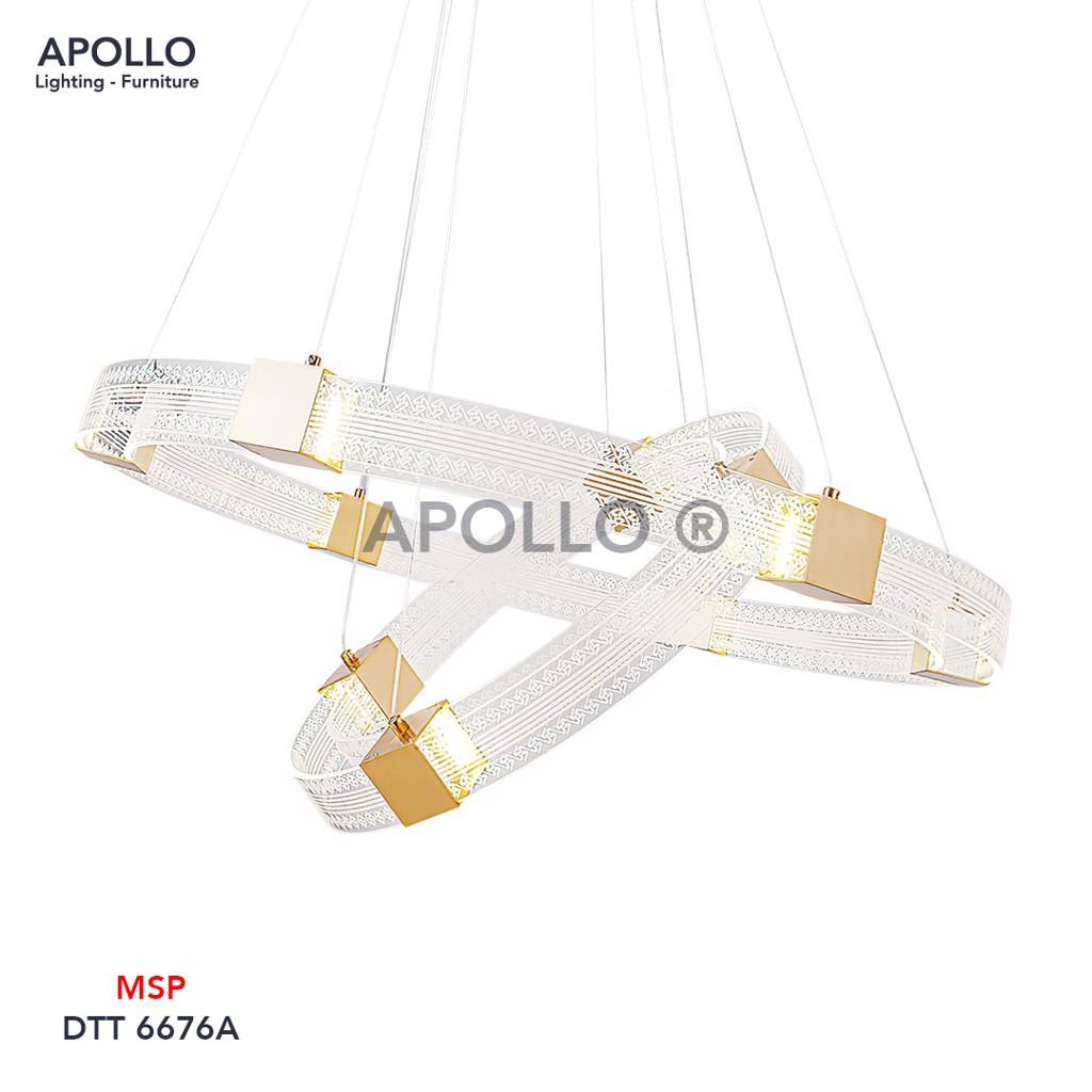 Đèn chùm thả Arcylic cao cấp DTT 6676A