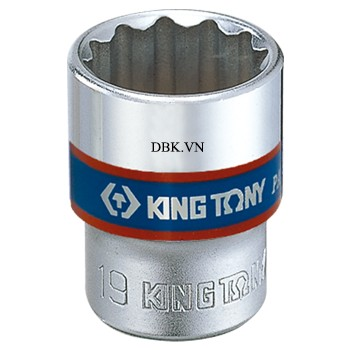 Đầu tuýp ngắn 3/8 inch 19 x 29mm Kingtony 333019M