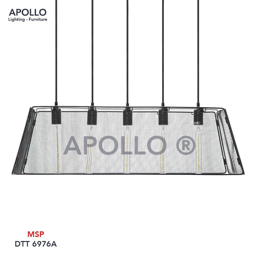 Đèn thả chùm lồng sắt DTT 6976A
