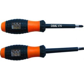 Tua vít cách điện & thử điện 5 x 100mm (+) Asaki AK-9086