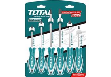 Bộ tuốc nơ vít (tô vít) 6 chi tiết Total THT250606