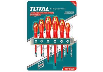 Bộ tuốc nơ vít (tô vít) 6 chi tiết Total THTIS566