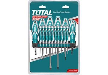 Bộ tuốc nơ vít (tô vít) 18 chi tiết Total THT250618