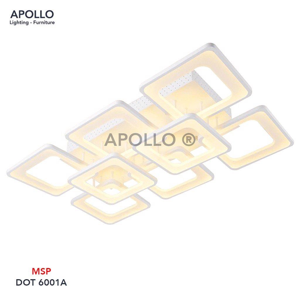 Đèn áp trần hiện đại 8 vòng vuông DOT 6001A