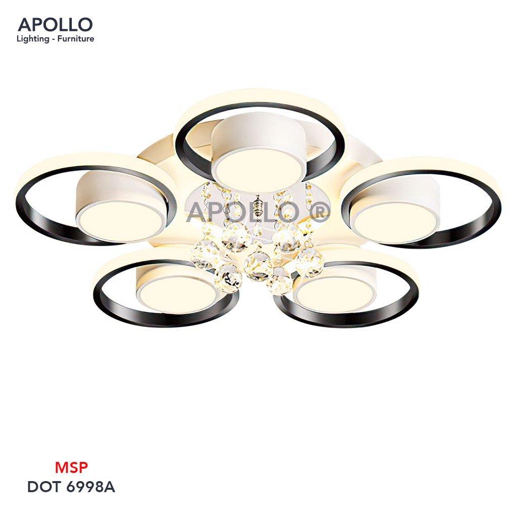 Đèn áp trần hiện đại pha lê DOT 6998A