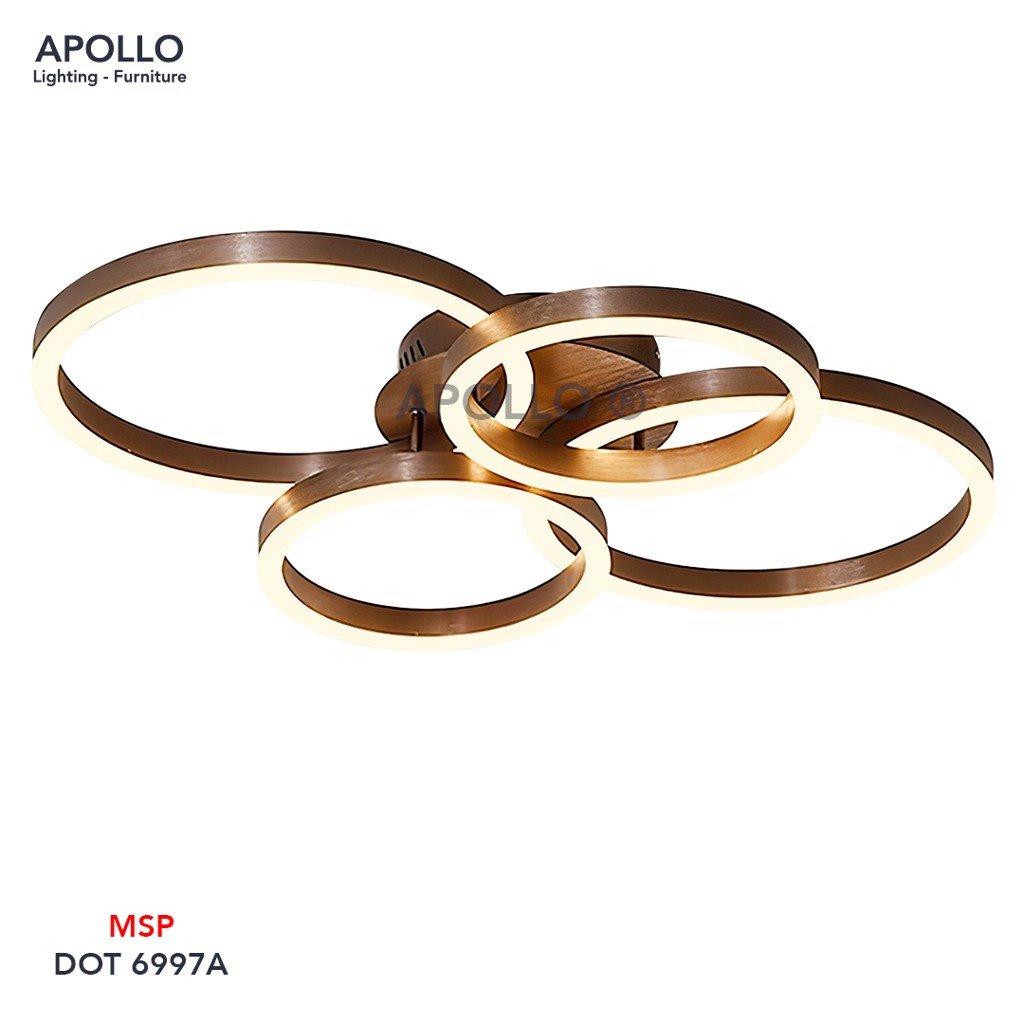 Đèn ốp trần hiện đại 4 vòng tròn DOT 6997A
