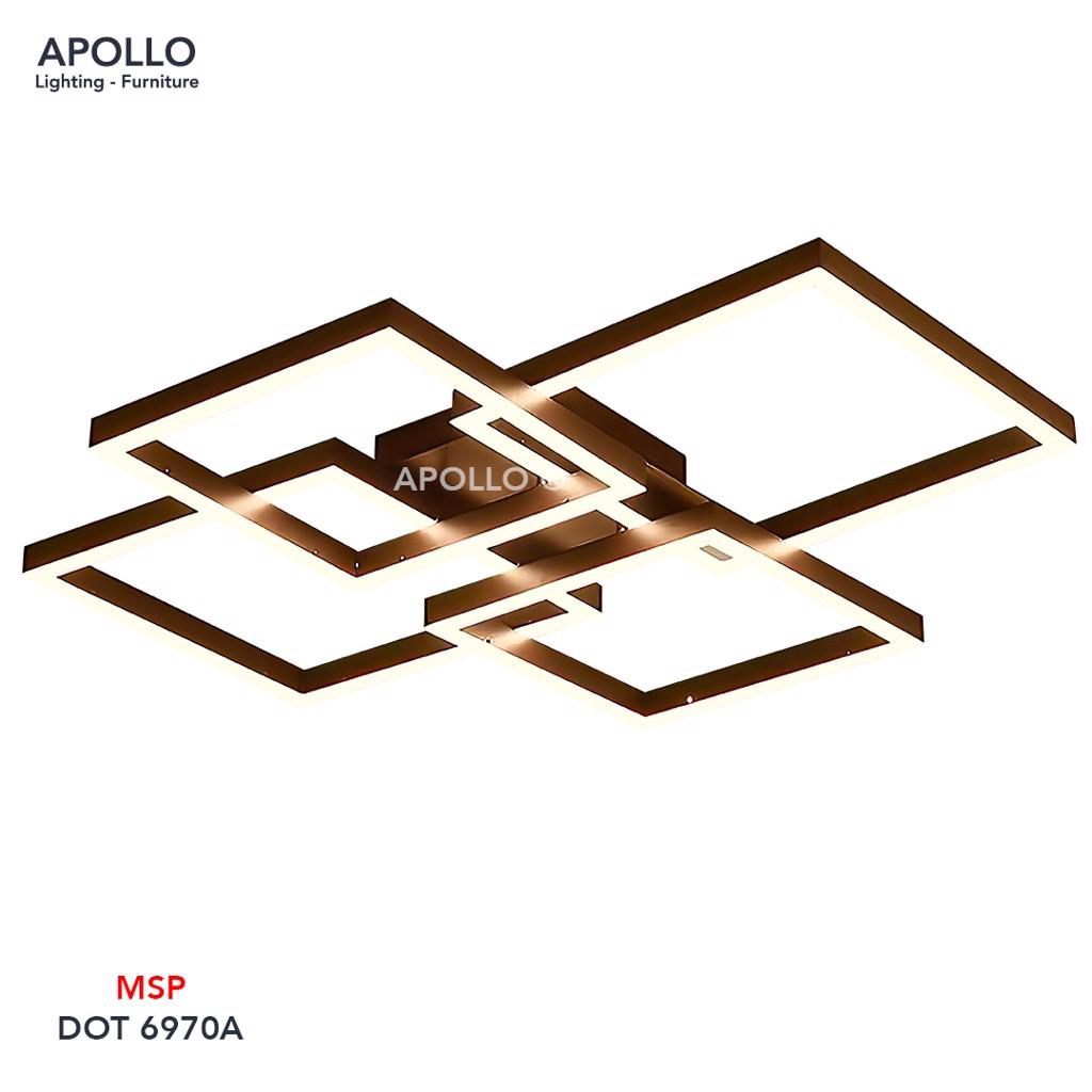Đèn ốp trần LED 4 vòng vuông DOT 6970A
