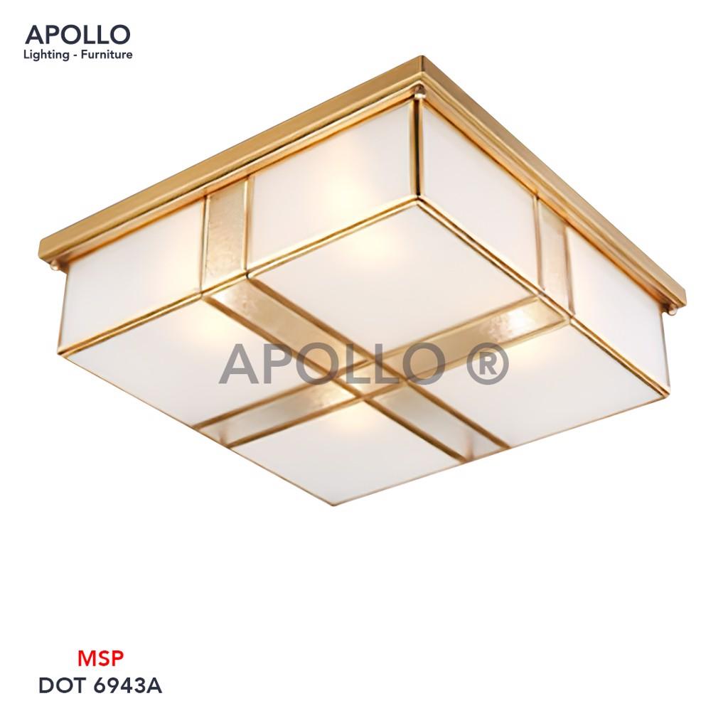 Đèn ốp trần cổ điển vuông DOT 6943A