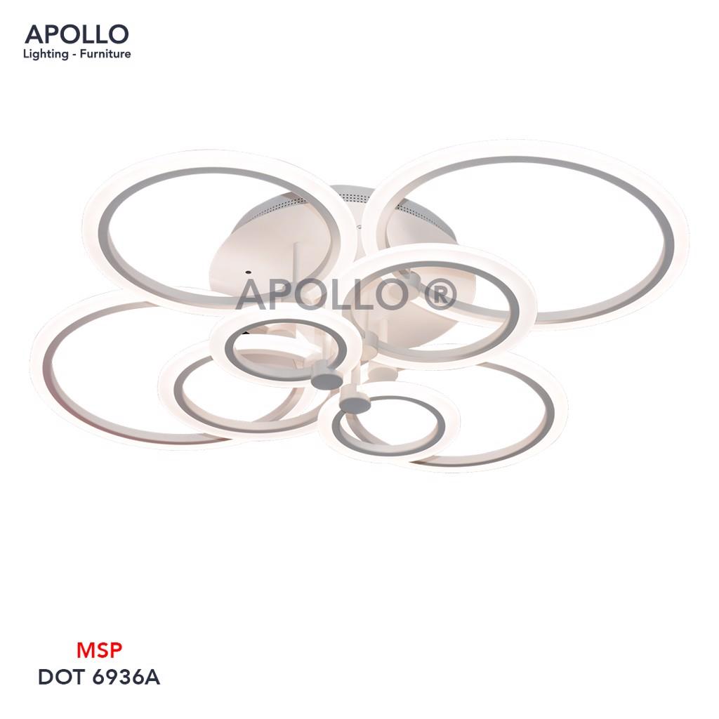 Đèn ốp trần LED Mica Arcylic 8 vòng tròn DOT 6936A