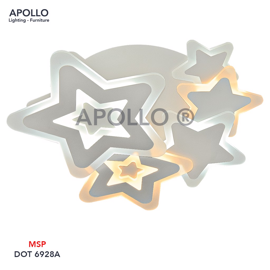 Đèn ốp trần LED Mica Arcylic DOT 6928A