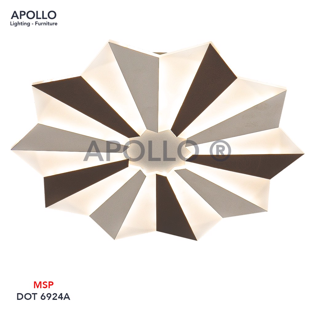 Đèn ốp trần LED Mica Arcylic DOT 6924A