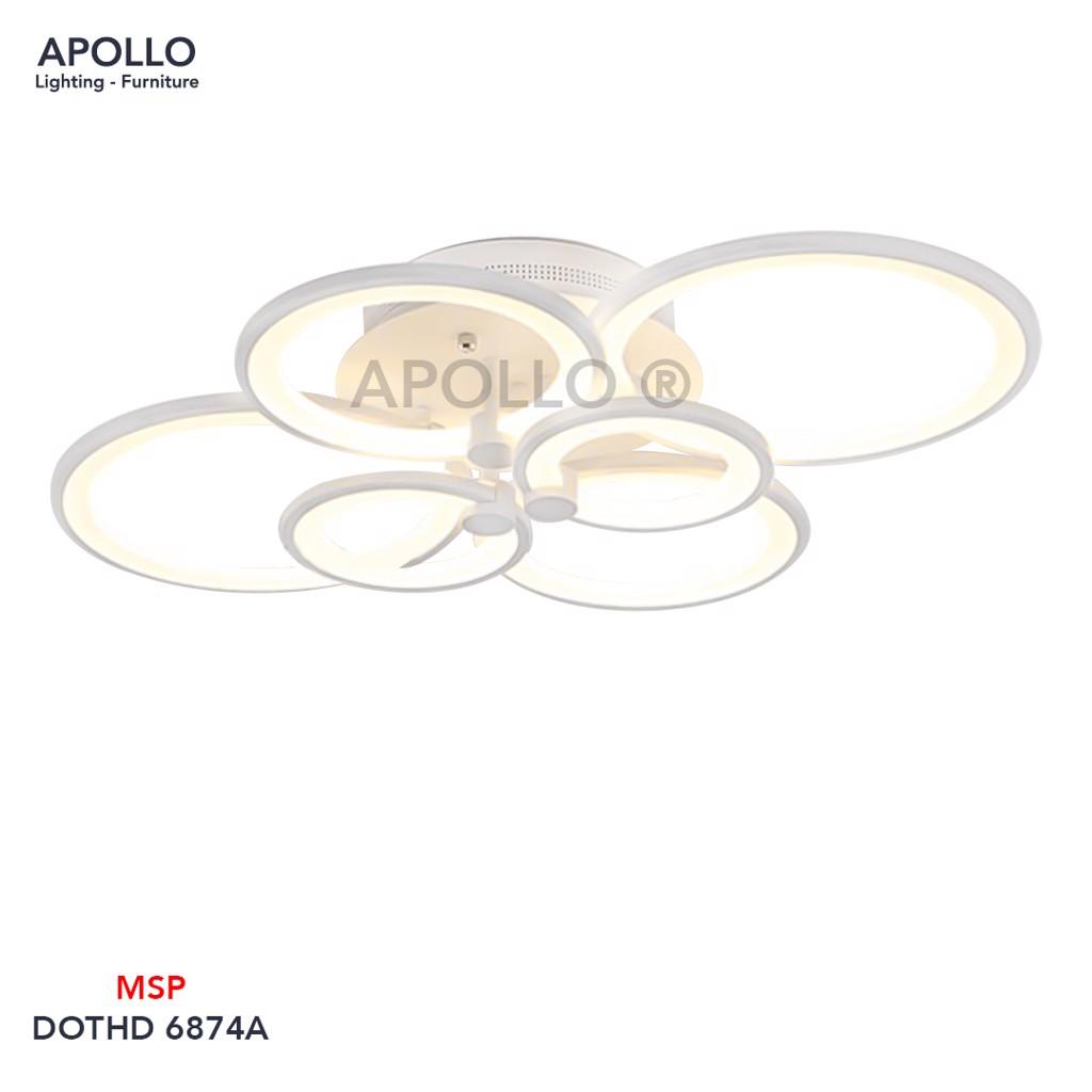 Đèn ốp trần LED 6 vòng tròn DOTHD 6874A
