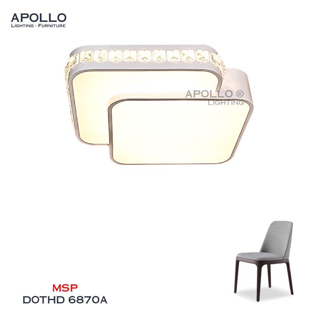 Đèn ốp trần LED hiện đại đơn giản DOTHD 6870A