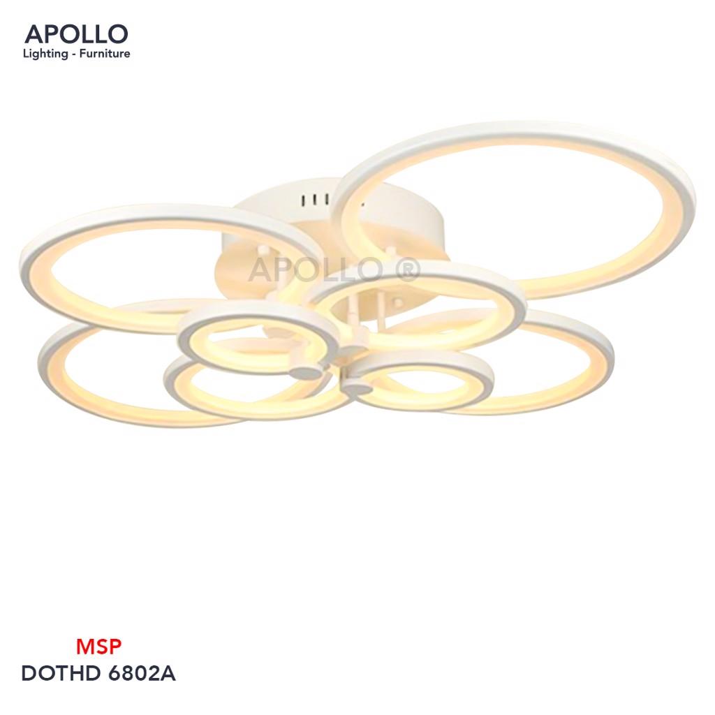 Đèn ốp trần Led 8 vòng tròn DOTHD 6802A