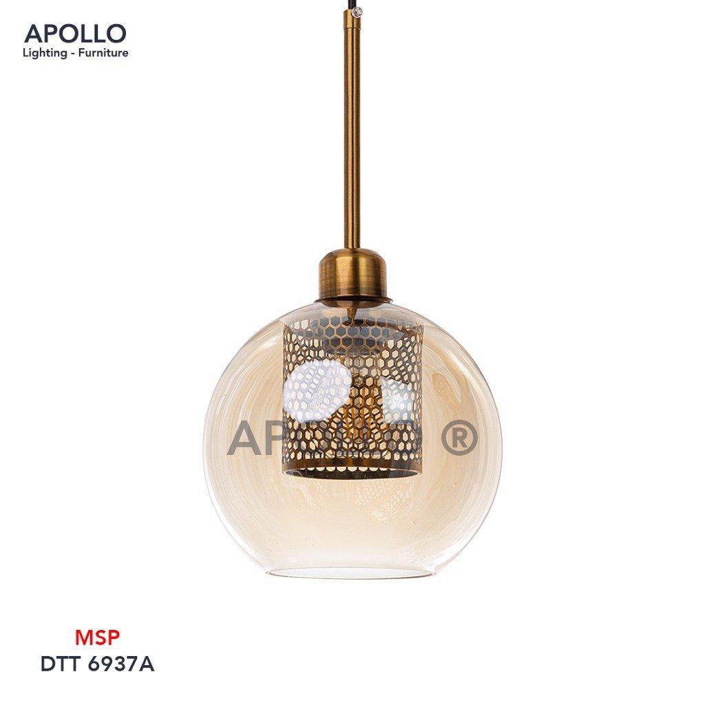 Đèn thả thủy tinh lưới tổ ong DTT 6937A