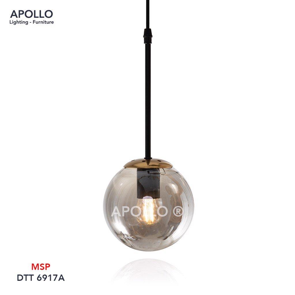 Đèn thả quả cầu thủy tinh khói DTT 6917A