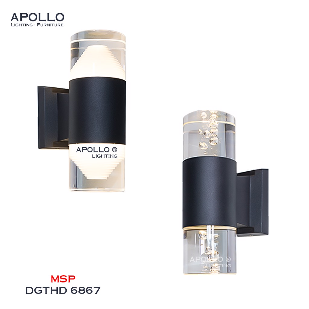 Đèn tường chống nước Arcylic 2 đầu DGTHD 6867