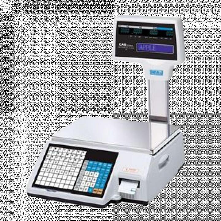 Cân điện tử in nhãn CAS CL5000-R 6/15