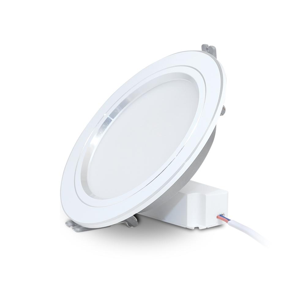 Đèn LED Âm trần Downlight 9W Viền Bạc