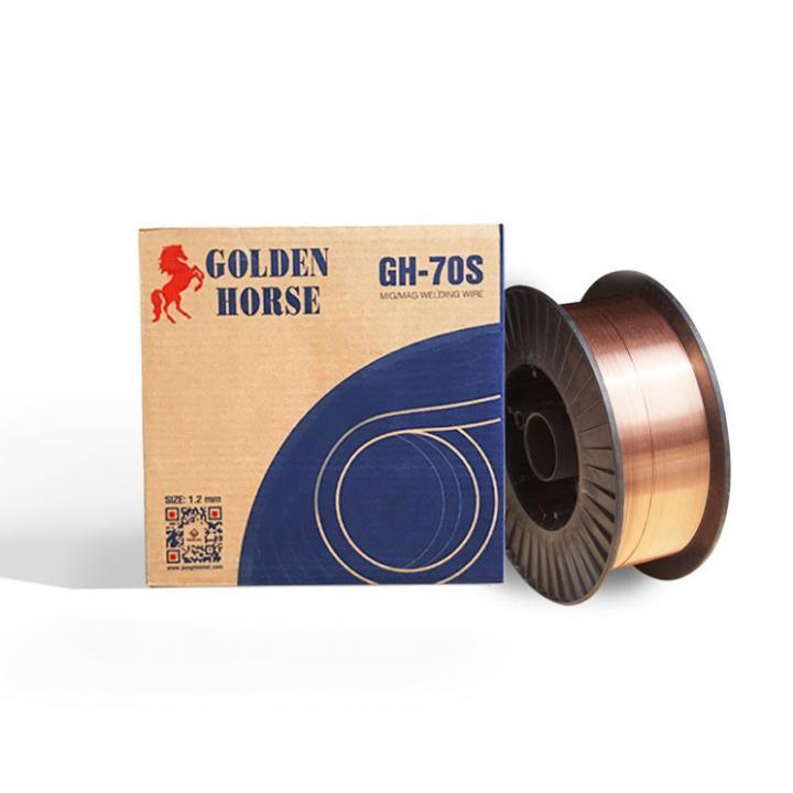 Dây hàn MIG/MAG Golden Horse GH-70S (ER70S-6) 0.8mm 5kg/cuộn