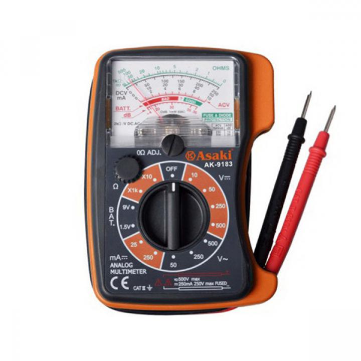 Đồng hồ kim đo điện vạn năng Asaki AK-9183