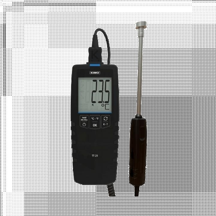 Máy đo nhiệt độ tiếp xúc kiểu K, J, T, S Kimo TT21