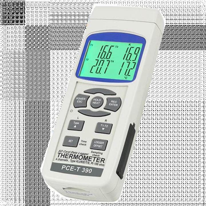 Máy đo nhiệt độ điện tử hiện số với 4 kênh đo PCE PCE-T390