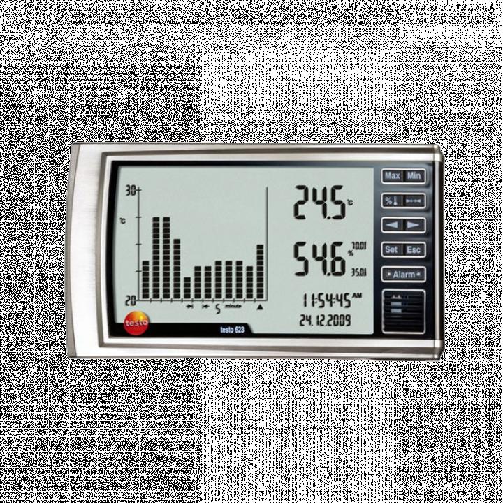 Máy đo nhiệt độ độ ẩm với biểu đồ Testo 623 0560 6230